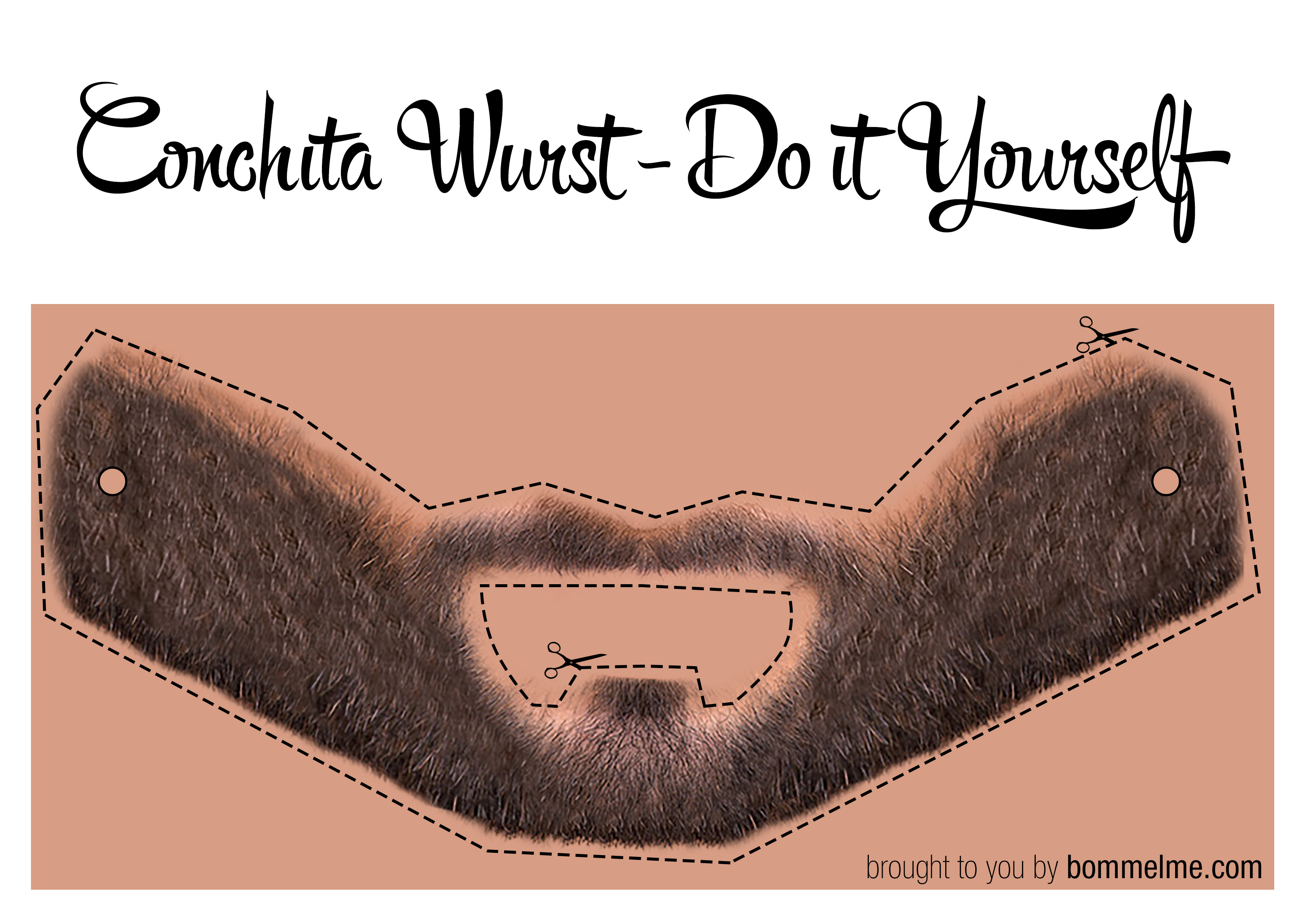 Conchita Wurst Bart Schablone / bommelME.com - Customized Beanies ...